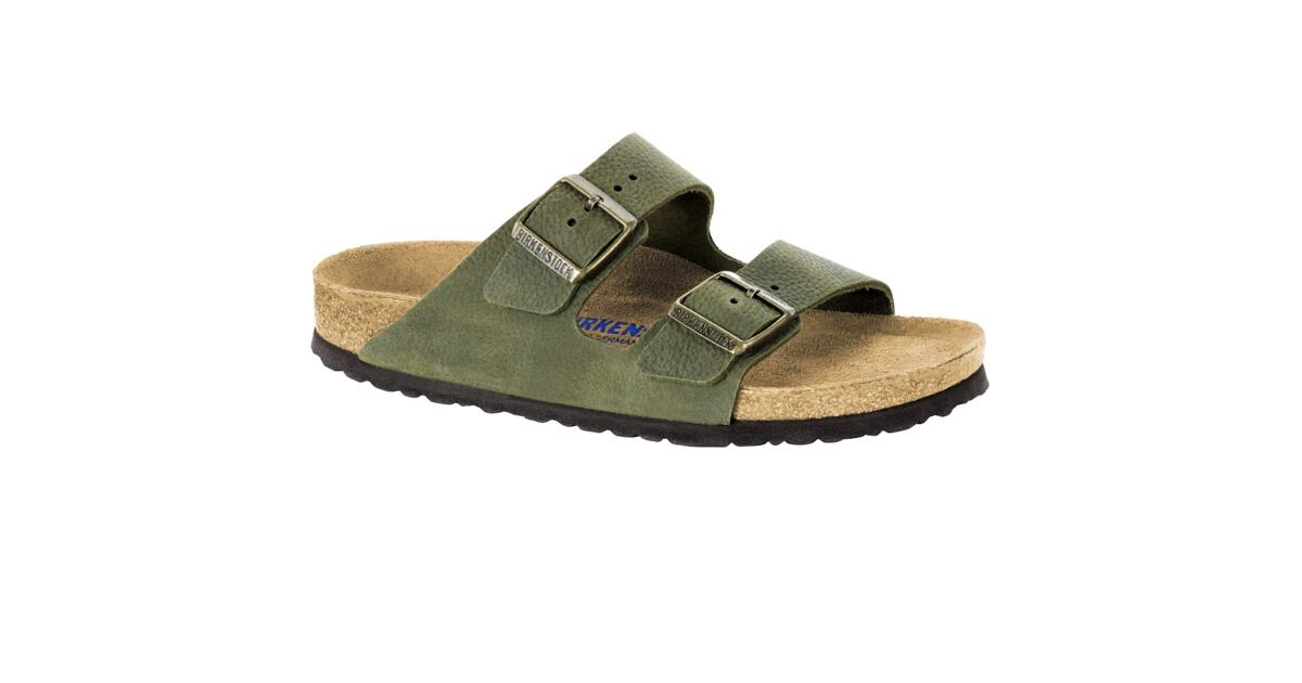 3bc2896c5 BIRKENSTOCK ARIZONA WOMEN FLIP FLOPS SOFT FOOTBED WITH DOUBLE BUCKLE STEER  KHAKI