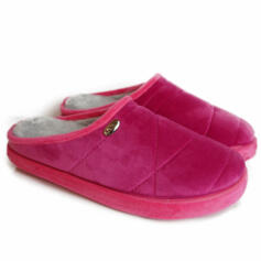 DR.SCHOLL HOLLY FUCHSIA SLIPPERS WITH MEMORY PLANTAR