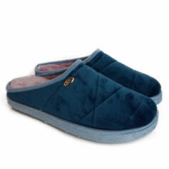 DR.SCHOLL HOLLY BLUE-GREEN SLIPPERS WITH MEMORY PLANTAR