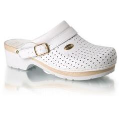 Dr. Scholl  supercomfort wood clogs white