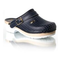 SCHOLL SUPERCOMFORT WOOD CLOGS BLUE WOMEN'S MEN'S UNISEX WOODEN