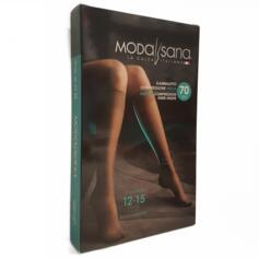MODASANA KNEE HIGHS 70 DEN 12/15 MMHG HONEYCOMB CLOSED TOE