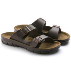 BIRKENSTOCK BILBAO MEN FLIP FLOPS  DOUBLE BUCKLE BROWN