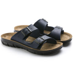 BIRKENSTOCK BILBAO MEN FLIP FLOPS DOUBLE BUCKLE BLUE