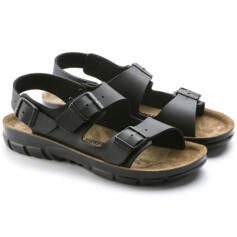 BIRKENSTOCK KANO MEN'S SANDALS DOUBLE BUCKLE BLACK