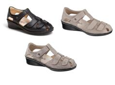 FINN COMFORT FÜNEN WOMEN'S COMFORTABLE CLOSED TOE SANDALS FUNEN