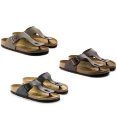 BIRKENSTOCK RAMSES STONE DARK BROWN BLACK MEN'S/WOMEN'S FLIP FLOPS