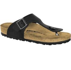 BIRKENSTOCK MEN'S/WOMEN'S FLIP FLOPS RAMSES OILED LEATHER BLACK