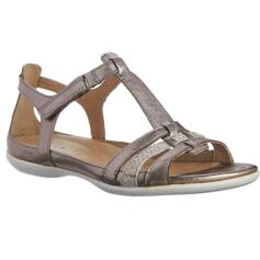 ECCO WOMEN'S COMFORTABLE SANDALS WITH STRAPS FLASH WARM GREY METALLIC
