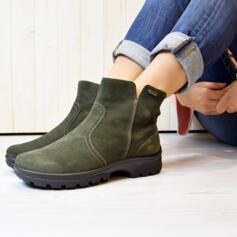 ARA SAS-GT FOREST ANKLE BOOTS WOMEN'S SUEDE LEATHER FOREST GREEN