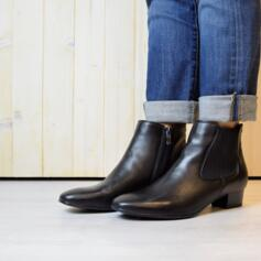 ARA MIL-ST SCHWARZ ANKLE BOOTS WOMEN'S REAL LEATHER BLACK