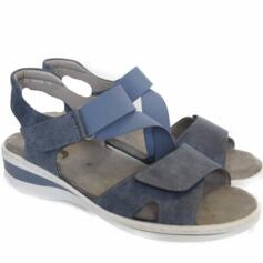 JENNY BY ARA KORFU WOMEN'S SANDALS COMFORTABLE CLOSURE STRAP BLUE