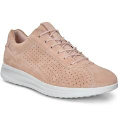 ECCO AQUET WOMEN'S COMFORTABLE CASUAL SNEAKER ROSE DUST