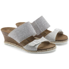 PAPILLIO DELLA WOMEN'S FLIP FLOPS ELASTIC BAND LIGHT GREY