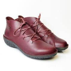 LOINTS OF HOLLAND FUSION WOMEN'S SHOES LACES LEATHER BORDEAUX
