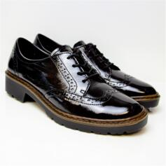 ARA RICHMOND WOMEN'S BROGUE PATENT LEATHER EXTRA SOFT BLACK