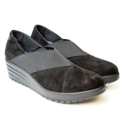 ENVAL SOFT WOMEN'S MOCASSIN SUEDE LEATHER BLACK
