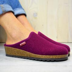 BIOLINE WOMEN'S HOUSE SLIPPERS IN WOOL AND CORK SOLE HORTENSIA