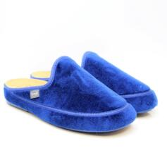 DR. SCHOLL MADDY WOMEN'S SLIPPERS BIOPRINT FOOTBED BLUE