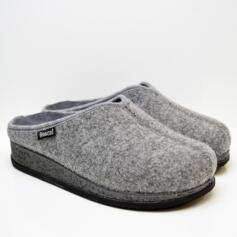 SABATINI GIADA WOMEN'S HOUSE SLIPPERS IN WOOL REMOVABLE FOOTBED GREY