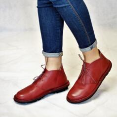 ICHIKA LEATHER' SHOES FLEXIBLE FOOTBED RED