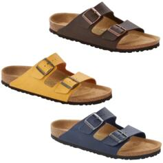 BIRKENSTOCK ARIZONA SADDLE VEGAN DOUBLE BUCKLE SLIPPERS