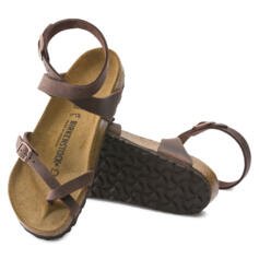 BIRKENSTOCK YARA GLADIATOR STYLE  FLIP FLOPS SANDALS REAL LEATHER BROWN