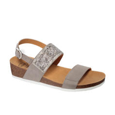DR.SCHOLL'S WOMEN'S SANDALS MICROSTRASS GREY SUEDE