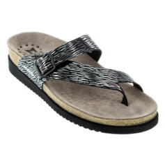 MEPHISTO HELEN ZEBRA BLACK FLIP-FLOPS SOFT-AIR TECHNOLOGY