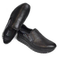 ENVAL SOFT WOMEN'S SLIP-ON MOCASSIN ULTRA SOFT LEATHER BLACK