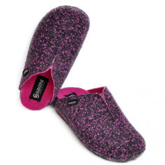 SABATINI WOMEN'S SLIPPERS REMOVABLE INSOLE ANTHRACITE/FUCHSIA