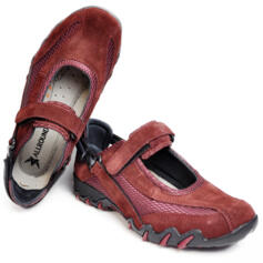 ALLROUNDER BY MEPHISTO NIRO WOMEN'S TREKKING SHOES SUEDE LEATHER BORDEAUX