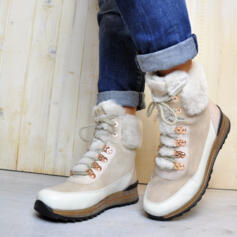 ARA OSAKA WOMEN'S HIGH TOP BOOTS WITH LACES SUEDE LEATHER BEIGE