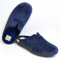 DIAMANTE MEN'S COMFORTABLE SLIPPERS WARM FABRIC BLUE