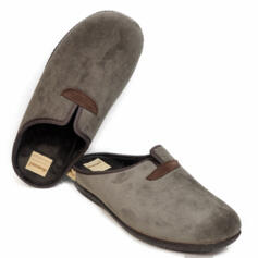 DIAMANTE MEN'S COMFORTABLE SLIPPERS WARM FABRIC BROWN