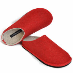 LOWENWEISS EASY BICOLOR WOMEN'S SLIPPERS RED/BEIGE