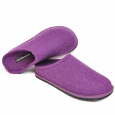 LOWENWEISS EASY WOMEN'S SLIPPERS WOOL PURPLE