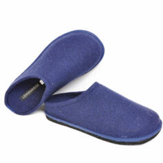 LOWENWEISS EASY MEN'S SLIPPERS WOOL BLUE