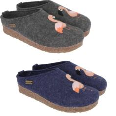 HAFLINGER FLAMINGO WOMEN'S SLIPPERS WOOL FELT