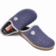 TIROL PINZOLO WOMEN'S HOUSE SLIPPERS MERINOS WOOL HIGH CORK'S WEDGE HEEL