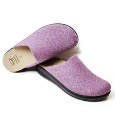 DR.SCHOLL'S ESTHER FELT SLIPPERS REMOVABLE FOOTBED MEMORY CUSHION