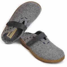 BIOLINE HOUSE SLIPPERS REMOVABLE INSOLE DAYLA MERINOS WOOL STRAP CLOSURE