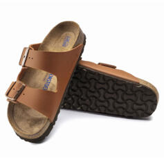 BIRKENSTOCK ARIZONA WOMEN'S FLIP FLOPS SOFT FOOTBED GINGER BROWN
