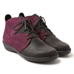 LOINTS OF HOLLAND SHOES ACTIVE BLACK AND WINE WOMEN SHOES MADE IN NETHERLAND