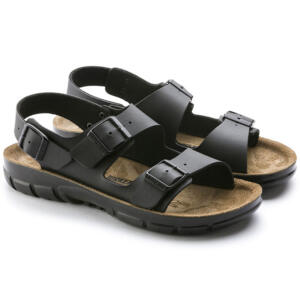 BIRKENSTOCK KANO MEN SANDALS DOUBLE BUCKLE BLACK