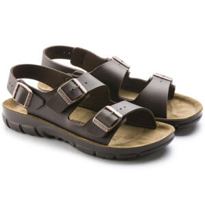 BIRKENSTOCK KANO MEN SANDALS DOUBLE BUCKLE BROWN