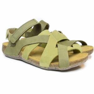 LOINTS OF HOLLAND WOMEN'S CROSSED SANDALS WITH STRAP FLORIDA 304/305 GREEN