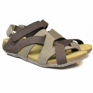 LOINTS OF HOLLAND WOMEN'S CROSSED SANDALS WITH STRAP FLORIDA 261/302 DARK BROWN