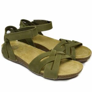 LOINTS OF HOLLAND WOMEN'S CROSSED SANDALS WITH STRAP FLORIDA GREEN