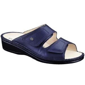 FINN COMFORT WOMEN'S FLIP FLOPS JAMAIKA REAL LEATHER DARKBLUE